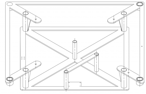 Trimetric view of the main frame