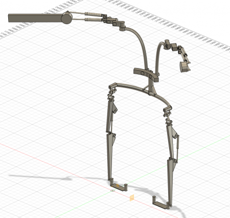 Prototype of lower leg modeled in Fusion 360