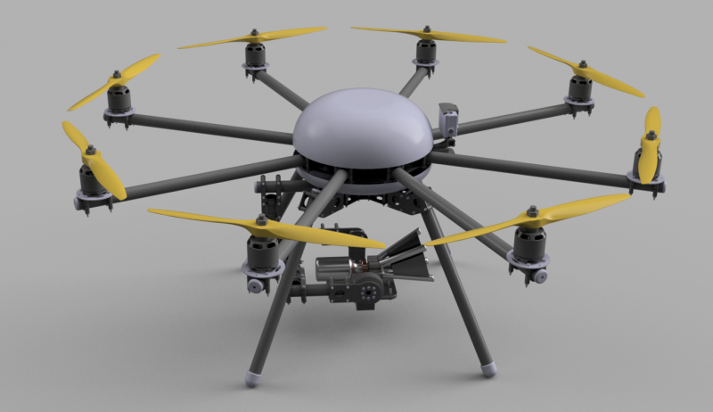 A render of the proposed drone design